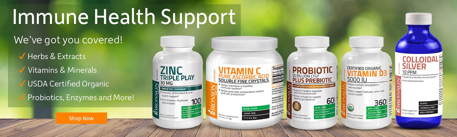Immune Health Products - Herbs, Vitamins, Organic, Probiotics and More - Shop Now