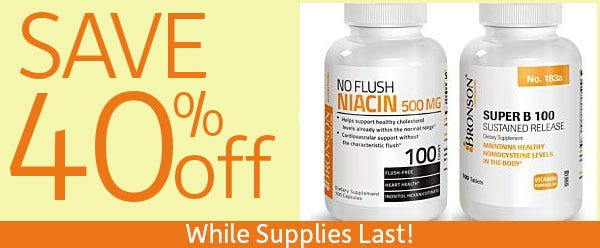 40% Off Select Products - Limited Quantity