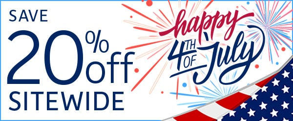 Independence Day Savings! 20% off Sitewide - Code JULY20