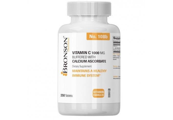 Vitamin C 1,000 mg Buffered with Calcium Ascorbate, 250 Tablets