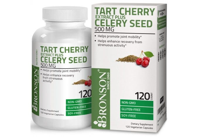 Tart Cherry Extract + Celery Seed 500mg, 120 Vegetarian Capsules