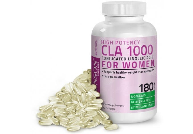 CLA for Women 1000mg High Potency Safflower Oil Weight Loss Exercise Enhancement, 180 Softgels