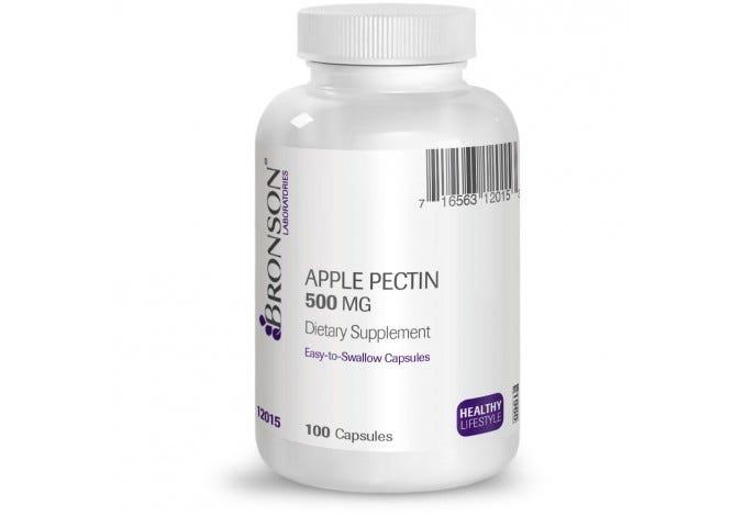 Apple Pectin 500 mg, 100 Capsules