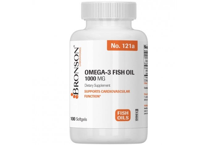Omega-3 Fish Oil 1000 mg, 100 Softgels
