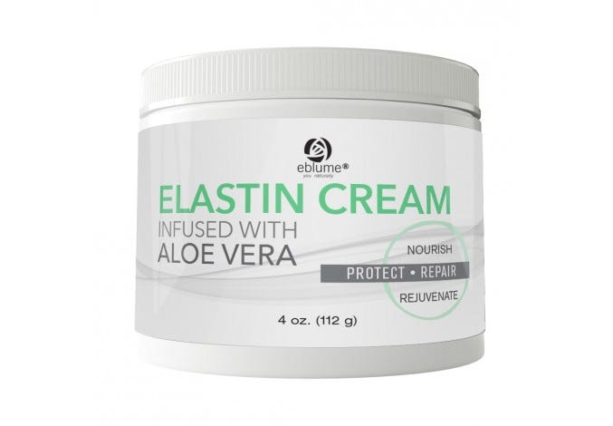 Eblume® Elastin Cream with Aloe Vera, 4oz