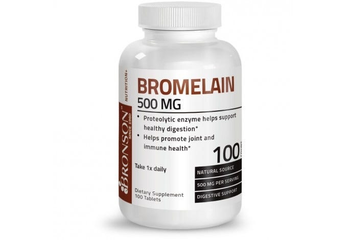 Bromelain 500 mg, 100 Tablets