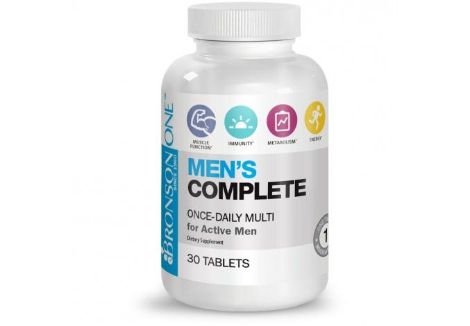 Bronson ONE Men's Complete MultiVitamin MultiMineral, 30 Tablets