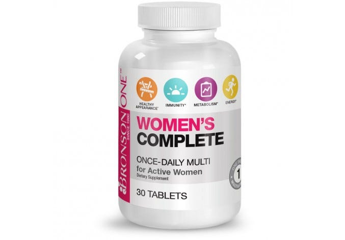Bronson ONE™ Women's Complete MultiVitamin MultiMineral, 30 Tablets
