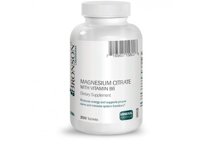 Magnesium Citrate with Vitamin B-6, 250 Tablets