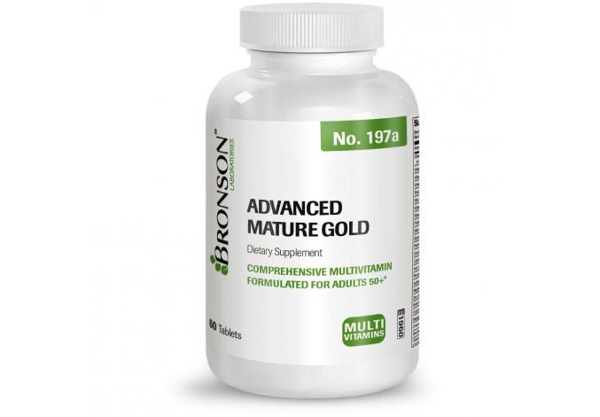 Advanced Mature Gold Multivitamin for Seniors, 60 Tablets