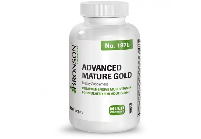 Advanced Mature Gold Multivitamin for Seniors, 150 Tablets