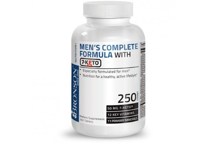 Men's Complete Formula with 7-Keto®, 250 Tablets