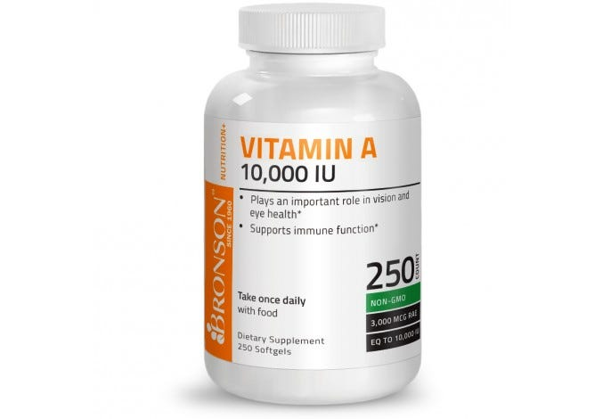 Vitamin A 10,000 IU, 250 Softgels