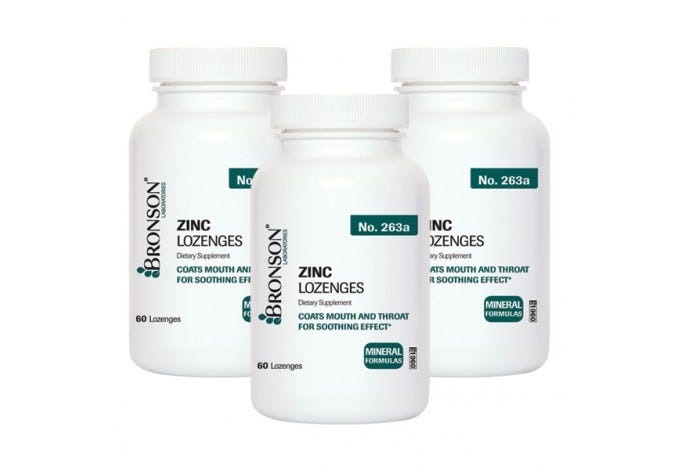 Zinc Lozenges, Multi Bottle Kit