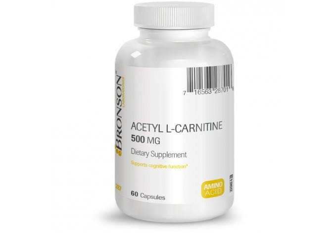 Acetyl L-Carnitine 500 mg, 60 Capsules