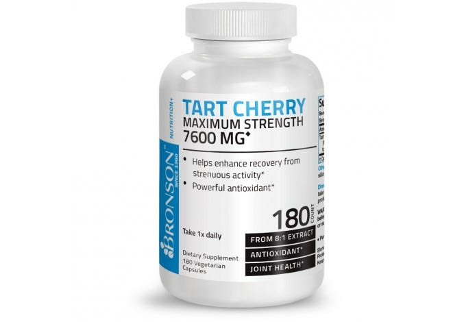 Tart Cherry 7600mg, 180 Capsules
