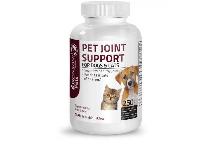 Pet Joint Support for Dogs and Cats, 250 Chewable Tablets