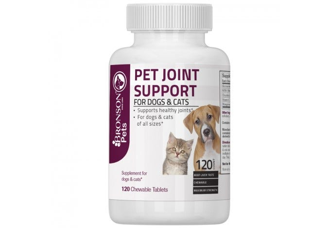 Pet Joint Support for Dogs and Cats, 120 Chewable Tablets