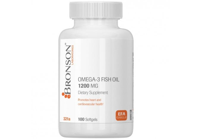 Omega 3 Fish Oil 1200 mg 100 Softgels