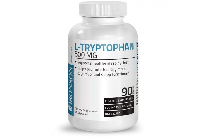 L-Tryptophan 500 mg, 90 Capsules