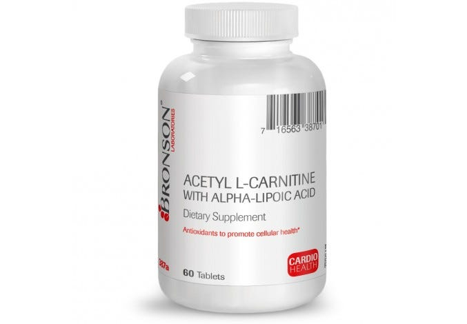 Acetyl L-Carnitine 500 mg with Alpha Lipoic Acid 200 mg, 60 tablets