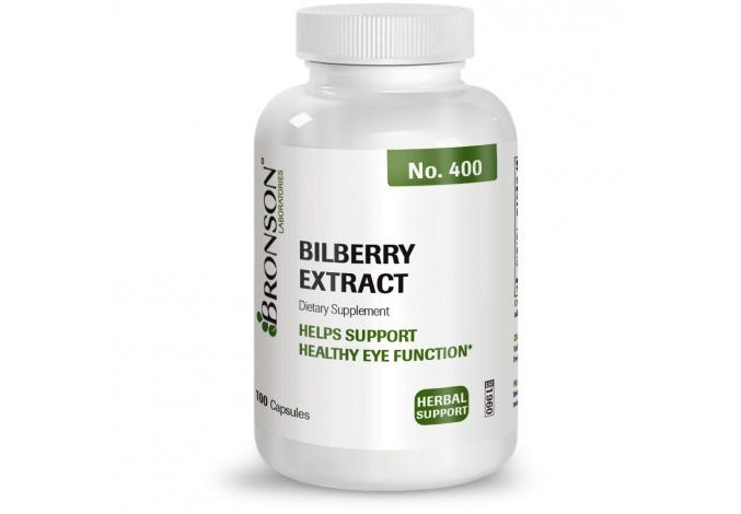 Bilberry Extract, 100 Capsules