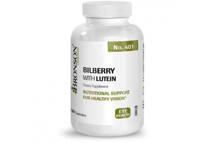 Bilberry with Lutein, 120 Capsules