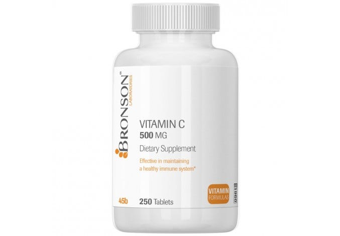 Vitamin C 500 mg, 250 Tablets