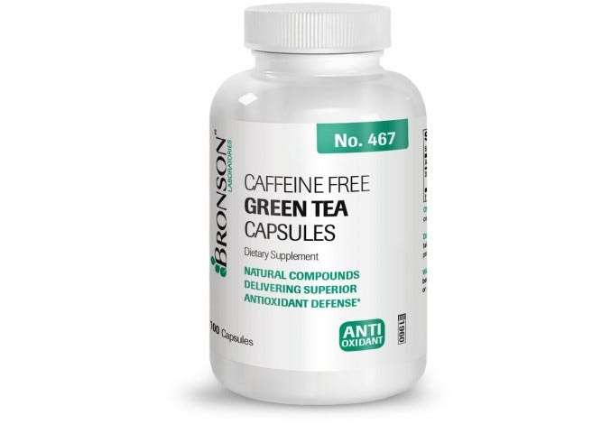 Caffeine Free Green Tea Extract, 100 Capsules