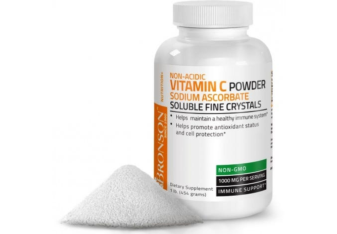 Vitamin C Crystals NON-GMO Non-Acidic Sodium Ascorbate Soluble Fine Crystals Vitamin C Powder, 1lb