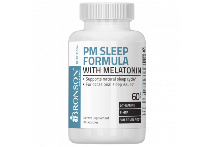 PM Sleep Formula with Melatonin, 60 Capsules