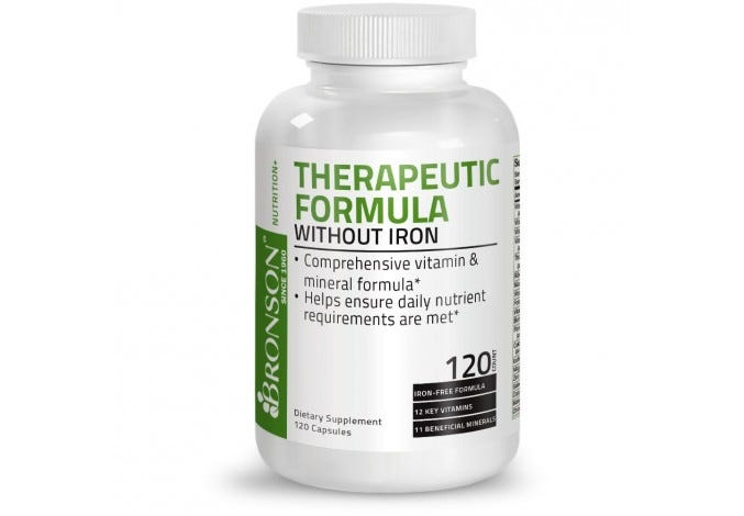 Therapeutic Formula without Iron, 120 Capsules