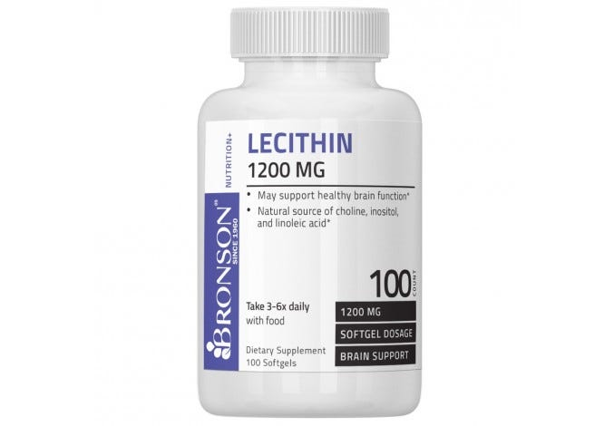 Lecithin 1200 mg, 100 Softgels