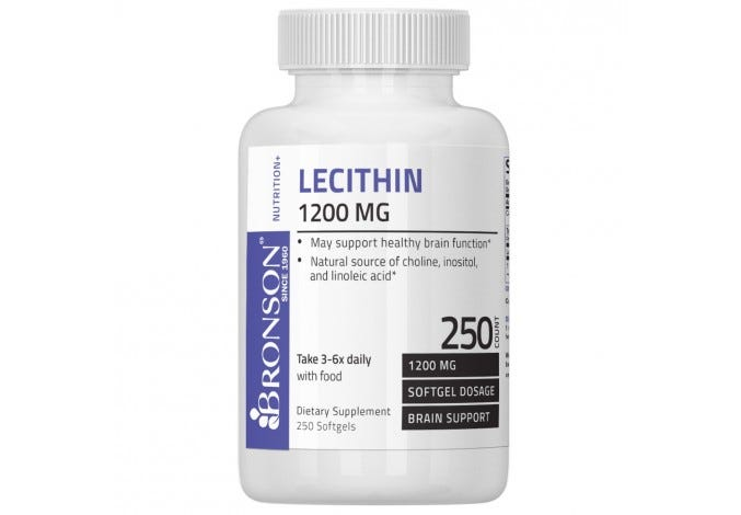 Lecithin 1200 mg, 250 Softgels
