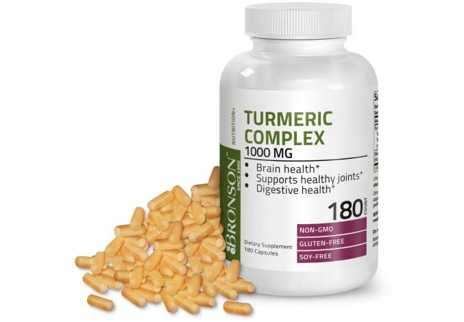 Turmeric Complex 1000 mg with Bioperine 180 Capsules
