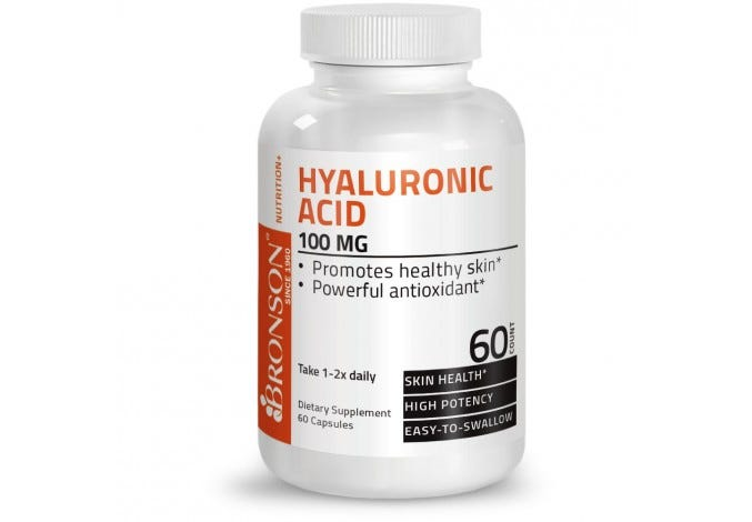 Hyaluronic Acid 100 mg 60 Capsules