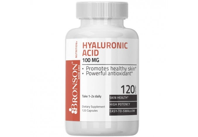Hyaluronic Acid 100 mg 120 Capsules