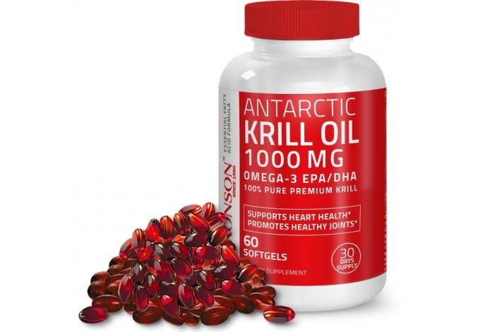 Antarctic Krill Oil 1000 mg with Astaxanthin, 60 Softgels