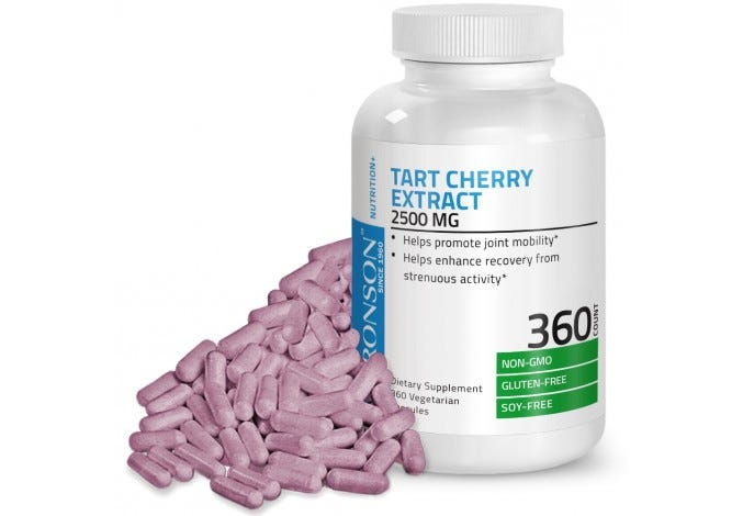 Tart Cherry Extract 2500 mg, 360 Capsules