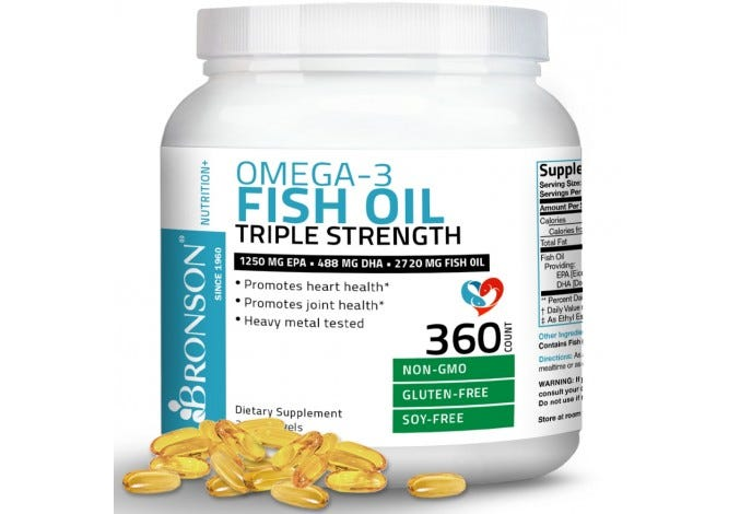 Omega 3 Fish Oil Triple Strength 2720 mg, 360 Softgels