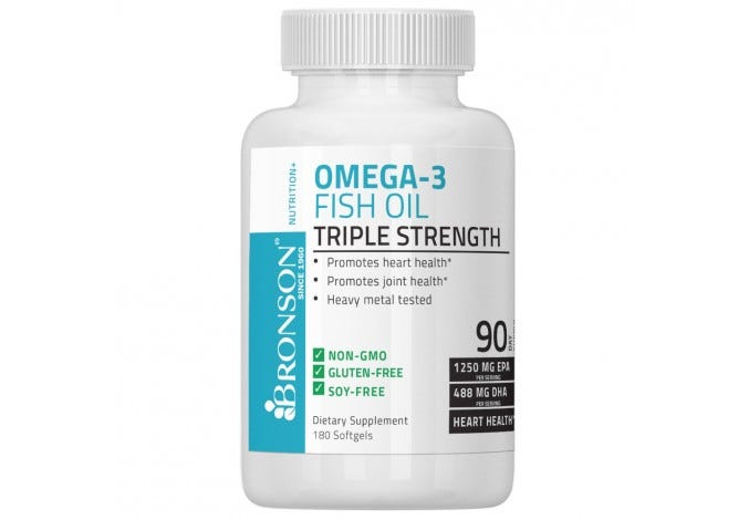 Omega 3 Fish Oil Triple Strength 2720 mg 180 Softgels