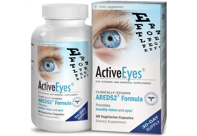ActiveEyes™ AREDS 2 Eye Vitamin & Mineral Supplement, 60 Capsules