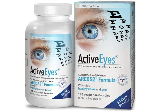 ActiveEyes™ AREDS 2 Eye Vitamin & Mineral Supplement, 180 Capsules
