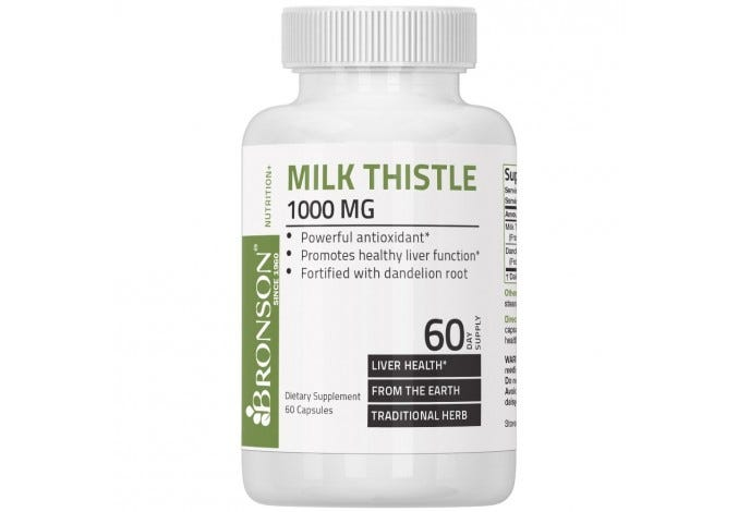 Milk Thistle 1000mg, 60 Capsules