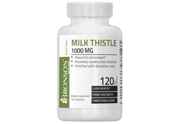 Milk Thistle 1000mg, 120 Capsules