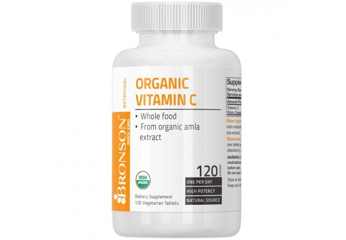 USDA Certified Organic Vitamin C, 120 Tablets
