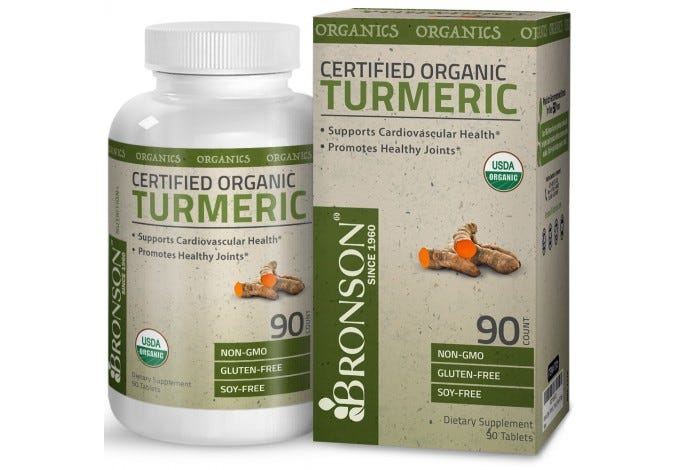 Certified Organic Turmeric, 90 Tablets