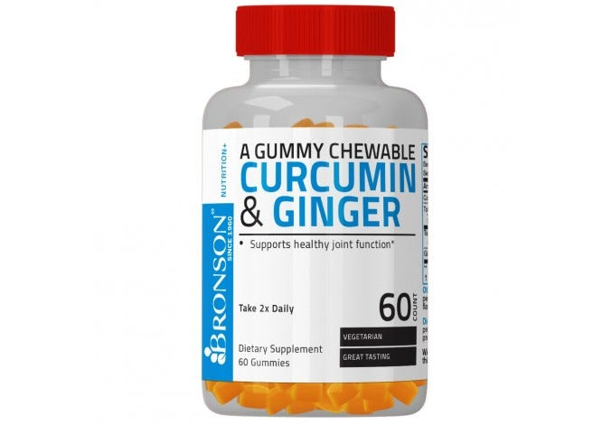 Curcumin & Ginger Gummies 60 Count