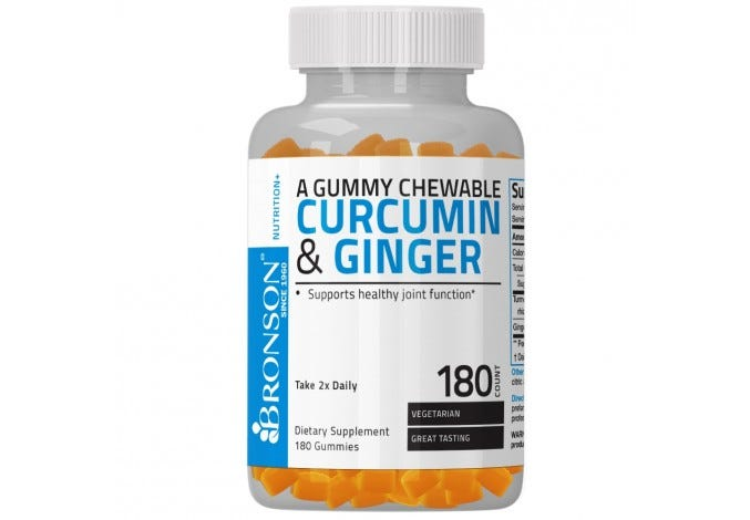 Curcumin & Ginger Gummies 180 Count