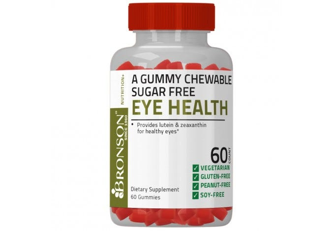 Eye Health Gummy Sugar Free 60 Count BOGO FREE